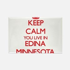 Keep calm you live in Edina Minnesota Magnets