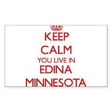 Keep calm you live in Edina Minnesota Decal
