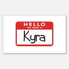 Hello Kyra Rectangle Decal
