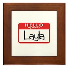 Hello Layla Framed Tile
