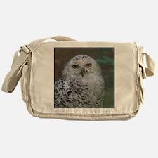 Snowy Owl, Schnee-Eule Messenger Bag