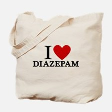 I Love Diazepam Tote Bag