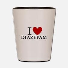 I Love Diazepam Shot Glass