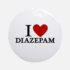 I Love Diazepam Ornament (Round)