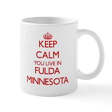 Keep calm you live in Fulda Minnesota Mugs