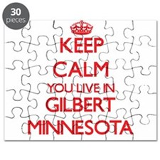 Keep calm you live in Gilbert Minnesota Puzzle