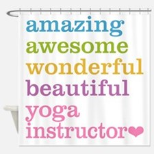 Yoga Instructor Shower Curtain