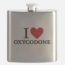 I Love Oxycodone Flask
