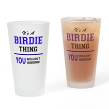 Cute Birdie Drinking Glass