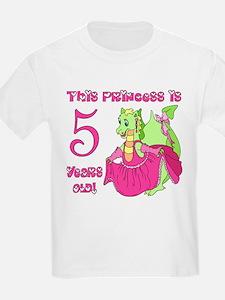 Princess is 5 Years T-Shirt