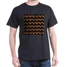 black chevron leopard print T-Shirt