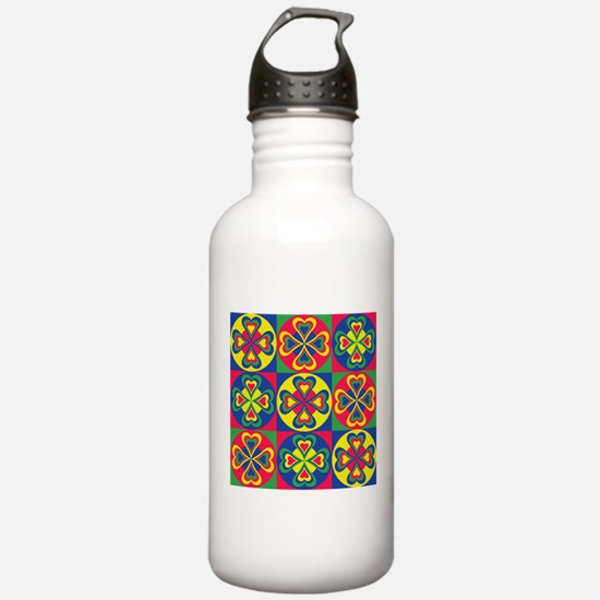 Folk Hearts Water Bottle
