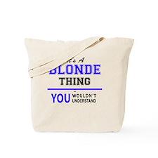Unique Blond Tote Bag