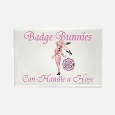 Badge Bunnies Love Hose Rectangle Magnet