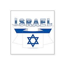 """Israel flag ribbon Square Sticker 3"""" x 3"""""""