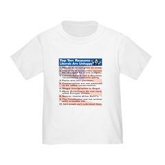 Top Ten Reasons Liberals Are T