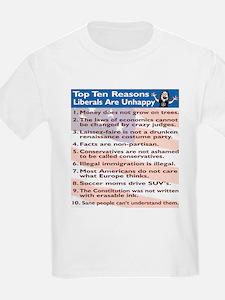 Top Ten Reasons Liberals Are Kids T-Shirt