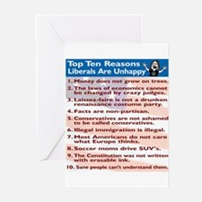 Top Ten Reasons Liberals Are Greeting Cards (Pack
