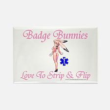 Badge Bunnies Strip Rectangle Magnet