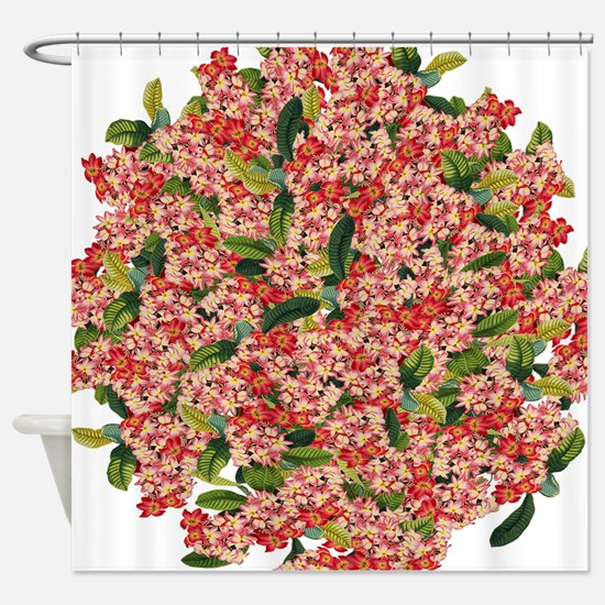 Plumeria Flowers Floral Tropical Shower Curtain