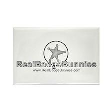 www.RealBadgeBunnies.com Logo Rectangle Magnet