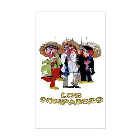 Los Compadres Rectangle Sticker