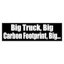 Big Truck Black Bumper Bumper Sticker