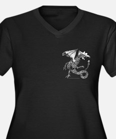 Angry Cockatrice! Women's Plus Size V-Neck Dark T-