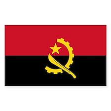 Angola Flag Rectangle Decal
