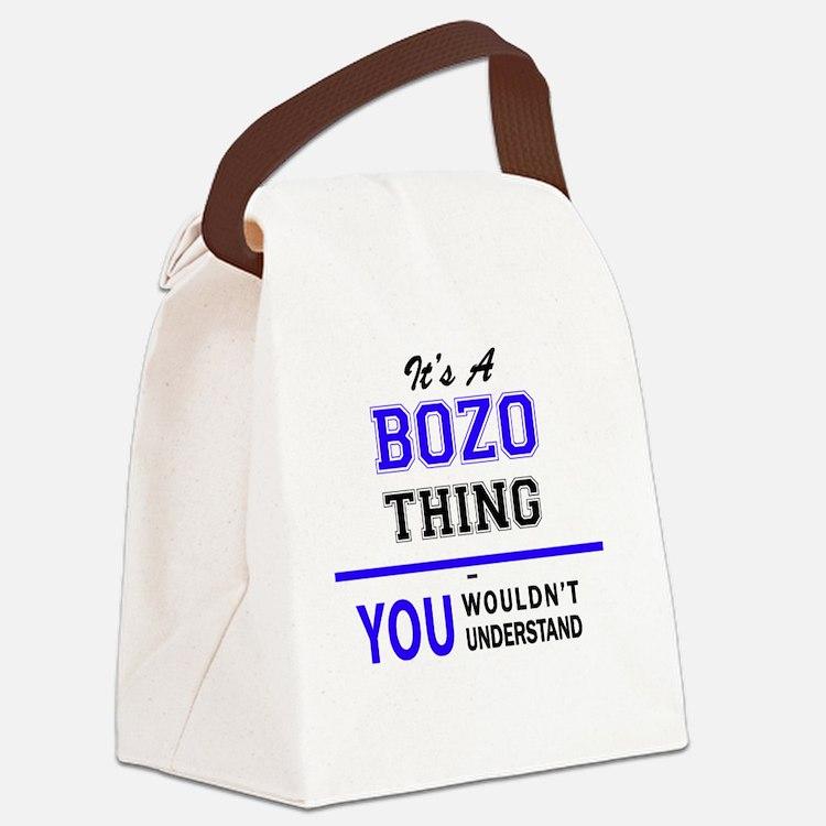 Cute Bozo Canvas Lunch Bag