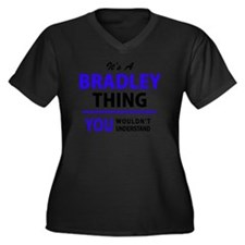Unique Bradley Women's Plus Size V-Neck Dark T-Shirt