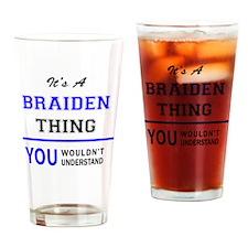 Cute Braiden Drinking Glass