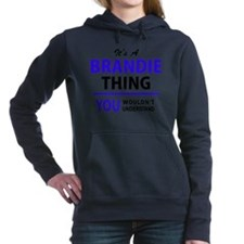 Funny Brandy Women's Hooded Sweatshirt