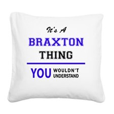 Cute Braxton Square Canvas Pillow