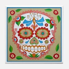 "Eden Folwell ""Amor"" Day of the Dead Tile Coaster"
