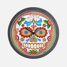 """Eden Folwell """"Amor"""" Day of the Dead Wall Clock"""