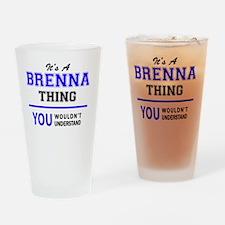 Funny Brenna Drinking Glass