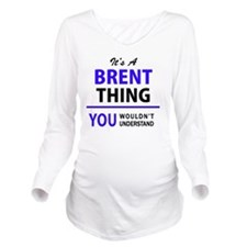 Cute Brent Long Sleeve Maternity T-Shirt