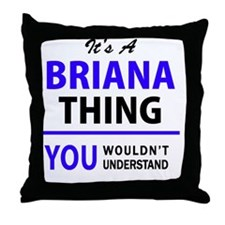 Cute Briana Throw Pillow