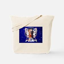 Monogram F Art Deco Starlight Love Tote Bag
