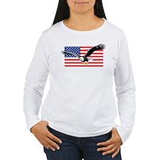 Bald Eagle and US Flag T-Shirt