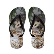 Snow Possum Flip Flops