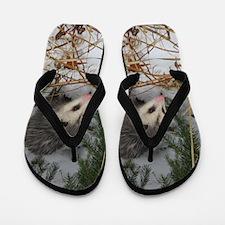 Snow Possum Flip Flops