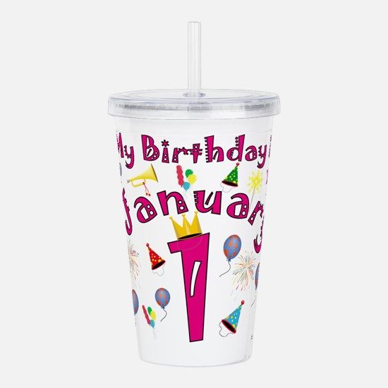 New Years Day January Acrylic Double-wall Tumbler