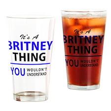 Cute Britney Drinking Glass