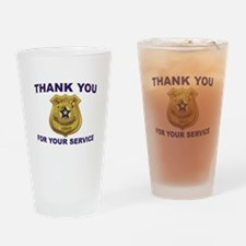POLICE THANKS Drinking Glass