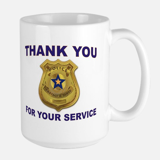 POLICE THANKS Mugs