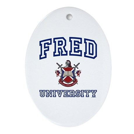 FRED University Oval Ornament