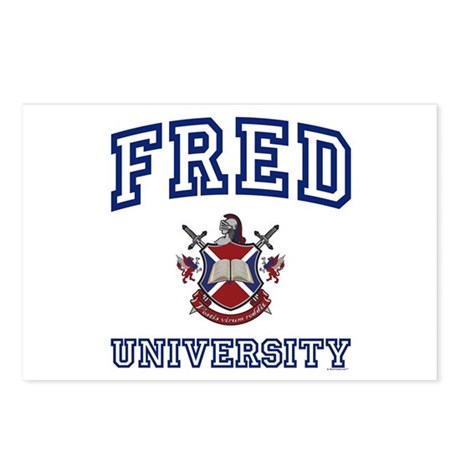 FRED University Postcards (Package of 8)