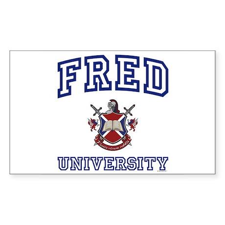 FRED University Rectangle Sticker